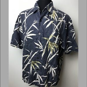 Tommy Bahama Shirt Linen Tropical Vintage Hawaiian